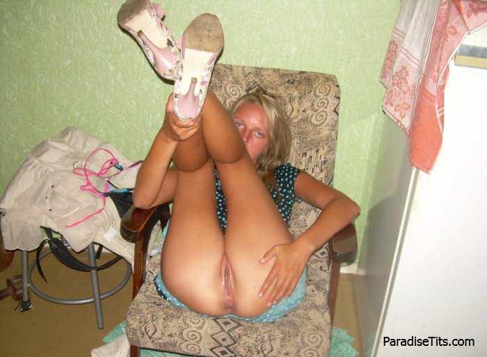 Фото ебли с худой блондинкой