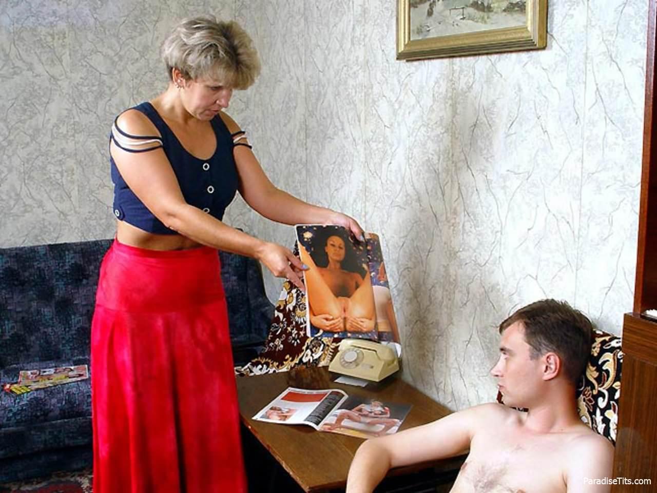 молодые пацаны с тетками порно