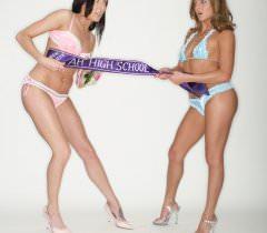 Шикарные лесбиянки на секс фото оголяют маленькие груди и волосатые лобки в ходе эротической игры