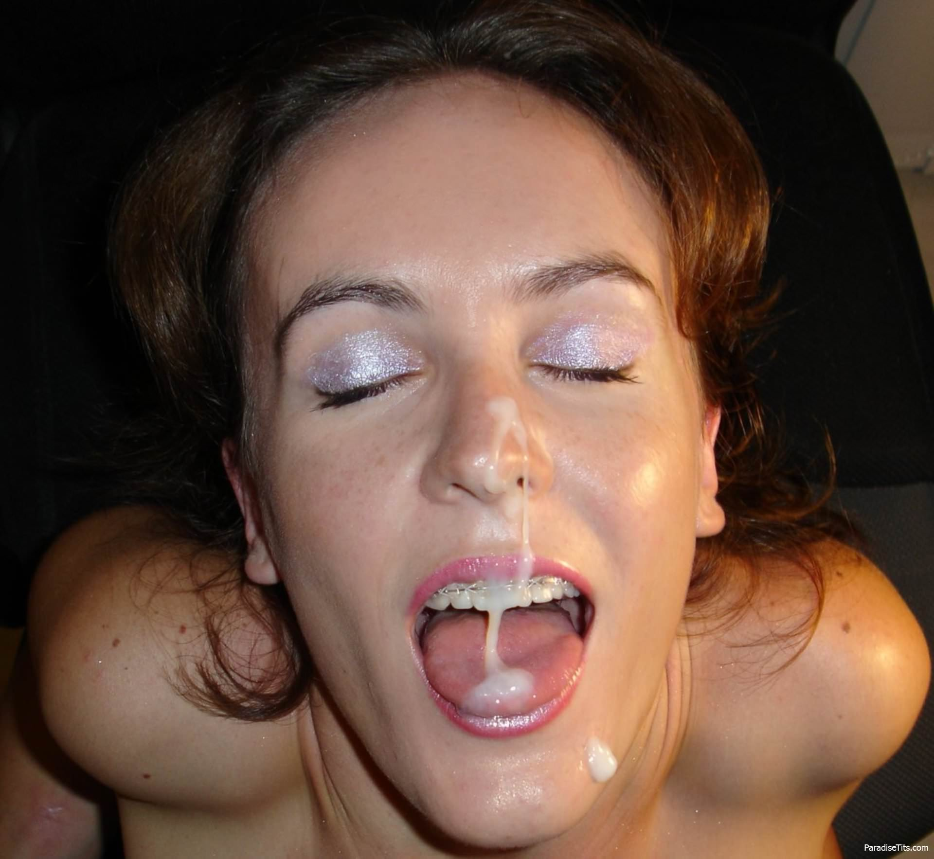 Surprise deepthroat cumshot