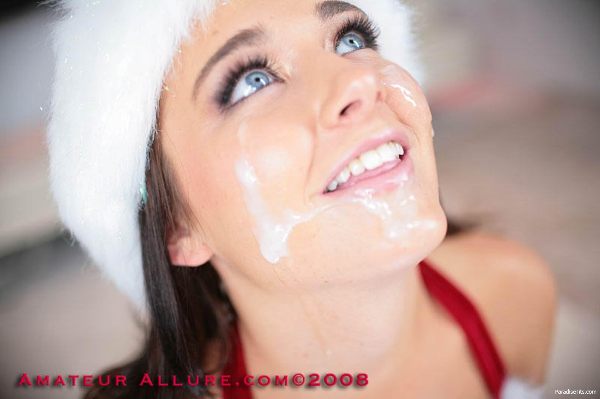Снегурочки со спермой на большой груди, порно девушка очень хочет огромный член