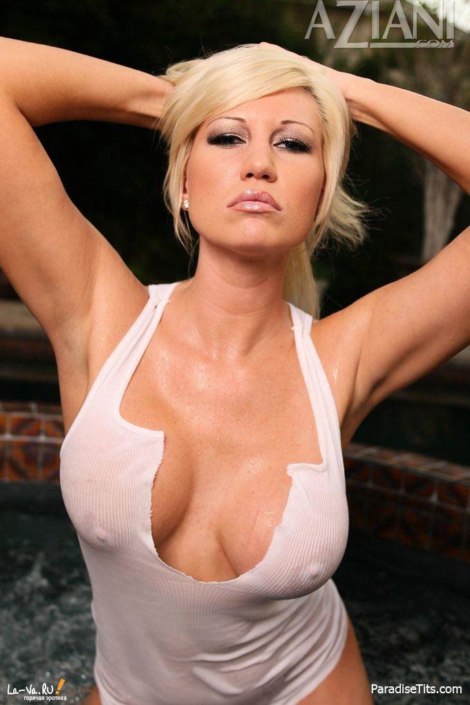 Блондинка порно мокрые майки фото 372-535