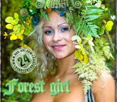 Милая красивая блондинка позирует на природе для домашних порно фото